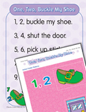 """Learning Center Activities for """"One, Two, Buckle My Shoe"""""""