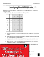 Leveled Algebra Questions - Multiplication of Binomials