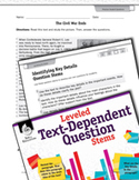 Leveled Text-Dependent Question Stems: Identifying Key Details