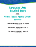 Leveled Texts - Author Focus: Agatha Christie Text Set