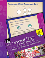 Leveled Texts: Comparing Fractions-Some Are More, Some Are Less