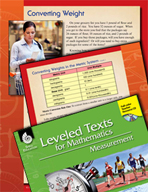 Leveled Texts: Converting Weight