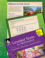 Leveled Texts: Equivalent Fractions-Different but the Same