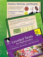 Leveled Texts: Fractions, Decimals, and Percents