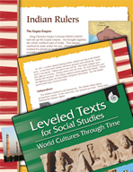 Leveled Texts: Indian Rulers