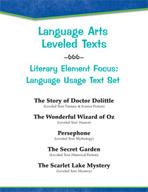 Leveled Texts - Literary Element Focus: Language Usage Text Set