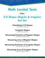 Leveled Texts - Master Math: 2-D Shapes (Regular and Irregular) Text Set