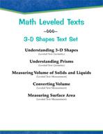Leveled Texts - Master Math: 3-D Shapes Text Set