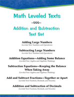 Leveled Texts - Master Math: Addition and Subtraction Text Set