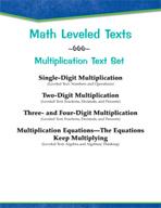 Leveled Texts - Master Math: Multiplication Text Set