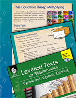 Leveled Texts: Multiplication Equations-The Equations Keep Multiplying