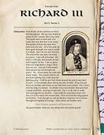 Leveled Texts Shakespeare - Richard III - Act I, Scene I