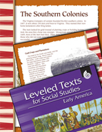 Leveled Texts: Southern Colonies