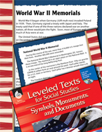Leveled Texts: World War II Memorials