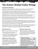 Light and Sound Inquiry Card - The Science Behind Guitar Strings
