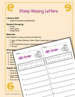 Literacy Activities to Practice Sequencing Letters