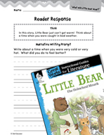 Little Bear Reader Response Writing Prompts (Great Works Series)