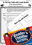 Louis Braille Reader's Theater Script and Lesson
