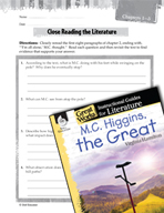 M.C. Higgins, the Great Close Reading and Text-Dependent Questions (Great Works Series)