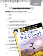 M.C. Higgins, the Great Comprehension Assessment (Great Works Series)