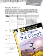 M.C. Higgins, the Great Leveled Comprehension Questions (Great Works Series)