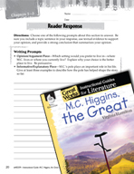 M.C. Higgins, the Great Reader Response Writing Prompts (G