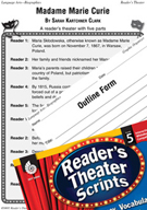 Madame Marie Curie Reader's Theater Script and Lesson
