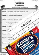 Making Connections-Pumpkins Reader's Theater Script and Lesson