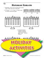 Making a Hanukkah Card and Hanukkah Garland