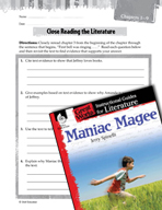 Maniac Magee Close Reading and Text-Dependent Questions (G