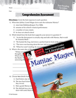 Maniac Magee Comprehension Assessment (Great Works Series)