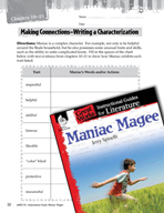 Maniac Magee Making Cross-Curricular Connections (Great Wo