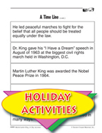 Martin Luther King, Jr. Activities -  A Time Line
