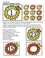 May Calendar Numbers by Karen's Kids