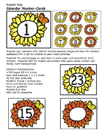 May Calendar Numbers by Karen's Kids