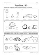 Measurement: Weight Practice