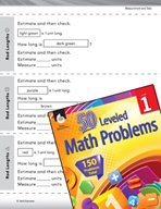 Measurement and Data Leveled Problem: Measuring Length - R