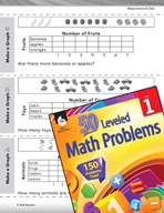 Measurement and Data Leveled Problem: Picture Graphs - Make a Graph