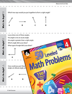 Measurement and Data Leveled Problems: Acute, Right, and Obtuse Angles