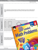 Measurement and Data Leveled Problems: Area and Perimeter