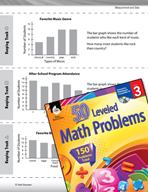Measurement and Data Leveled Problems: Bar Graphs