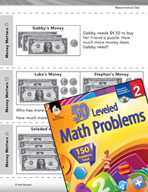 Measurement and Data Leveled Problems: Counting and Comparing Money