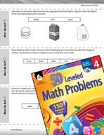 Measurement and Data Leveled Problems: Different Units of Measurement