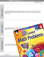 Measurement and Data Leveled Problems: Find the Median and Mean
