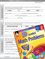 Measurement and Data Leveled Problems: Finish the Measurement Story