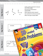 Measurement and Data Leveled Problems: Identify Angle Measures