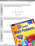 Measurement and Data Leveled Problems: Line Plots and Fractions
