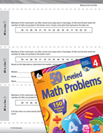 Measurement and Data Leveled Problems: Mean, Median, Mode and Range