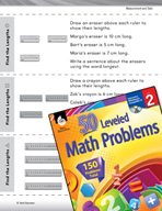Measurement and Data Leveled Problems: Measure Objects Using Centimeters