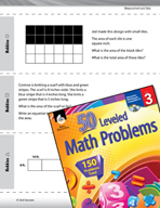 Measurement and Data Leveled Problems: Use Pictures to Find the Area